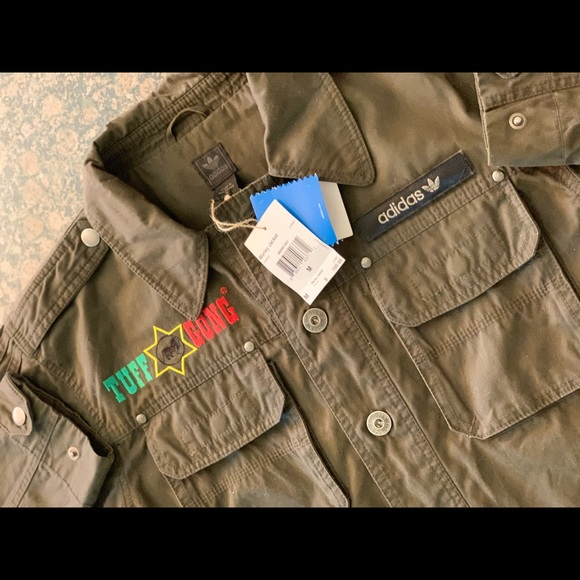 pasar por alto Enfermedad infecciosa sin cable  adidas Jackets & Coats   Adidas X Tuff Gong Marley Jacket   Poshmark
